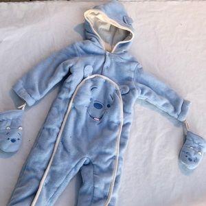 Disney baby Pooh Bear blue snow suit size 24 month